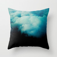 BLACK SKIES Throw Pillow by Deadly Designer