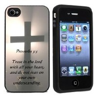 Cross Frees Christian - Best 3 in 1 cell phone case for iPhone 4, iPhone 4S - WHITE