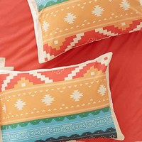 Curtis Jinkins For DENY Southwestern Plains Sham Set- Red One