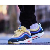 ONETOW Nike Air Max 97 / 1 Sean Wotherspoon AJ4219-400 VF SW Hybrid Sport Running Shoes