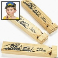 Wooden Train Whistles (1 dz)
