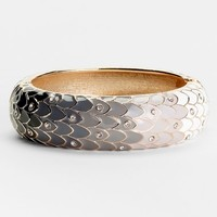Sequin Wide Hinged Bangle Bracelet