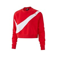 Nike Women's Swoosh Red HBR Crew Sweatshirt