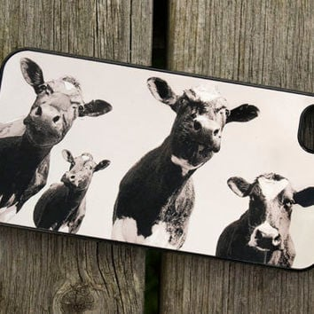 iphone 4 or 4S case - Four cows - smartphone - Mobile - Animal - Farm - Moo - Photo