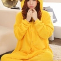 Yellow Pikachu Cartoon Onesuits Animal Pajamas