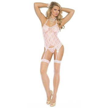 Sexy Beams Lace Camisette, G-String and Stockings
