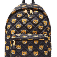Moschino - Quilted Backpack with Teddy Bear Print
