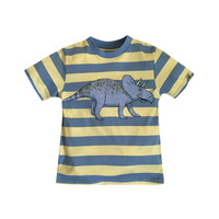 Dogwood Striped Triceratops Tee - Light/Pastel Blue -