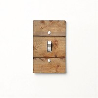 """""""Wooden"""" Light Switch Cover"""