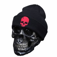 New Fashion Skull Warm Beanie Punk Hat 2016 Winter Knitting Hip Hop Caps Ghost Beanies Knitted Cap Hats For Men Outdoor Sport