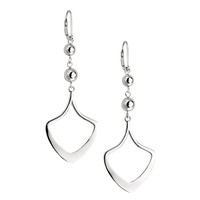 ETHEREAL Lever Back Earrings - Fashionable Sterling Silver