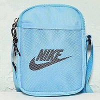 NIKE New fashion letter hook print shoulder bag crossbody bag Blue