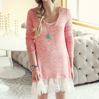 Lace Cactus Dress in Pink