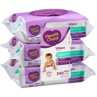 Parent's Choice Fragrance Free Flip-Top Baby Wipes, 80 sheets, 3 count - Walmart.com