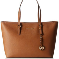 Michael Kors Medium Jet Set Travel Multifunction Tote, Brown