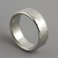 Man's Palladium Wedding Ring  Dune Ring  Mens by SarahHoodJewelry