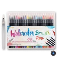 20 Colors Watercolor Calligraphy Soft Brush Pen Set