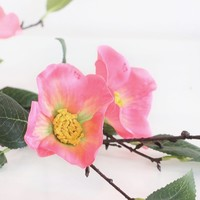 """Coral Pink Camellia Artificial Flower - 38"""""""