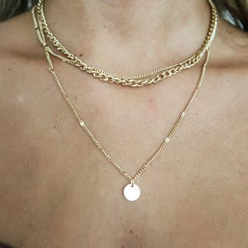 Take A Chance Necklace: Gold
