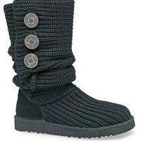 Women's UGG Knit Cardy Boots sz 6 Black #5819