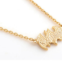 Fashion Cute Bat Long Necklaces