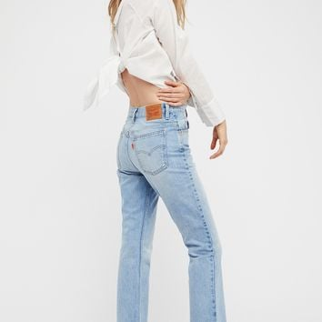 Free People Levi's 517 Cropped Boot Cut Jeans