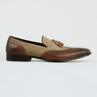 Dune Applaud Mixed Leather And Canvas Tassel Loafers* - View All Shoes - Shoes and Accessories
