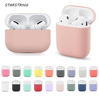 Silicone cover for Airpods 2/1 earphone  coque soft protector fundas airpods pro case Air pods covers earpods apple Airpod case