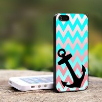 Chevron Anchor - For iPhone 4,4S Black Case Cover