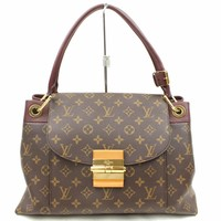 Authentic Louis Vuitton Hand Bag Olympe M40579 Browns Monogram 171185