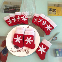 Mini Christmas Stockings Dinnerware Cover Xmas tree decorations Christmas Decorations Festival Party Ornament