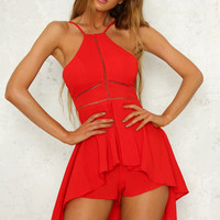What It Takes Playsuit Red