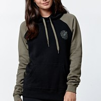 RVCA Quill Fleece Pullover Hoodie - Womens Hoodie - Multi