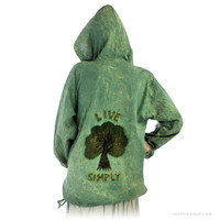 Stonewashed - Live Simply Hoodie on Sale for $19.99 at HippieShop.com