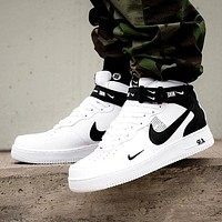 Nike Air Force 1 07 Tide brand simple version OW high-top sports shoes