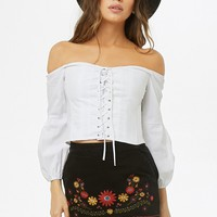 Lace-Up Corset Top