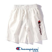 CHAMPION Popular Women Men Sports Running Quick-Drying Shorts White