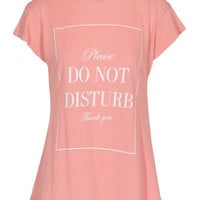 WILDFOX  Do Not Disturb Desert Crew Neck Passion Baumwoll-T-Shirt mit Print  - What's new