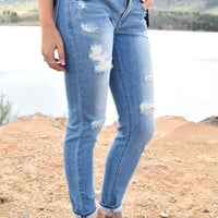 West Coast Distressed Skinny Jean