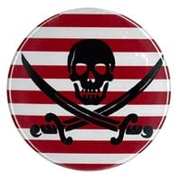 Jolly Roger Striped Compact Mirror