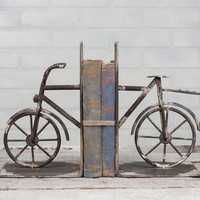 Rustic Bicycle Bookends
