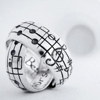 Your Song Wedding Bands  Made to Order  Custom by Ricksonjewellery