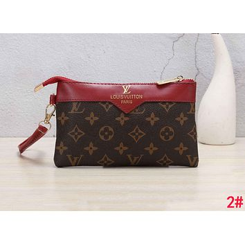 LV Louis Vuitton Classic Hot Sale Women Men Leather Handbag Wrist Bag Purse Wallet 2#