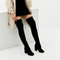 ASOS DESIGN Wide Fit Extra Wide Leg kadi heeled over the knee boots at asos.com