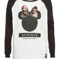 NEFF Disney Collection Minnie Head Girls Baseball Tee | Graphic Tees