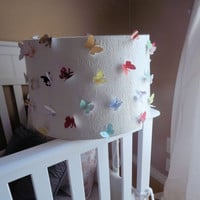 Chandelier Lampshade White with butterflies by CreateItGirl