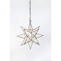 Star Clear Glass Pendant in Brass