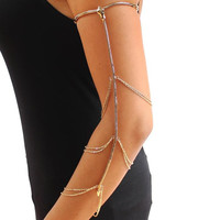 Snake Metal Chained Arm Cuff