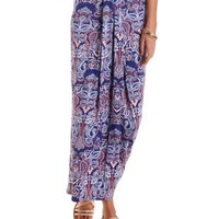 Tucked & Draped Maxi Skirt by Charlotte Russe - Multi