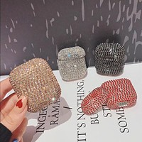HOT Sparkly Sequined Bling Bling Wireless Earphone Charging Case
